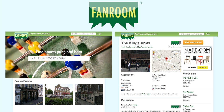 Fanroom website