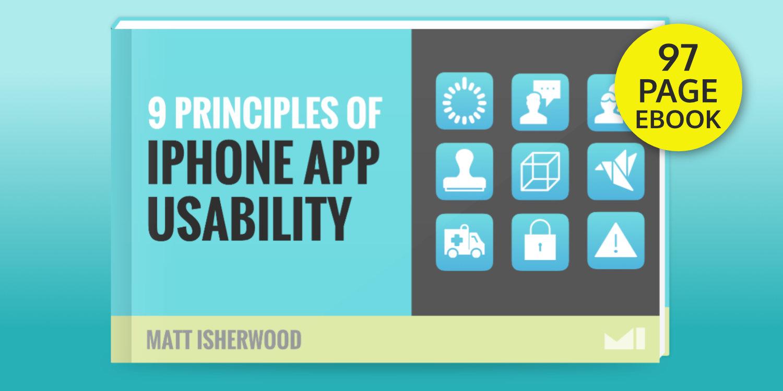 iPhone App Usability ebook