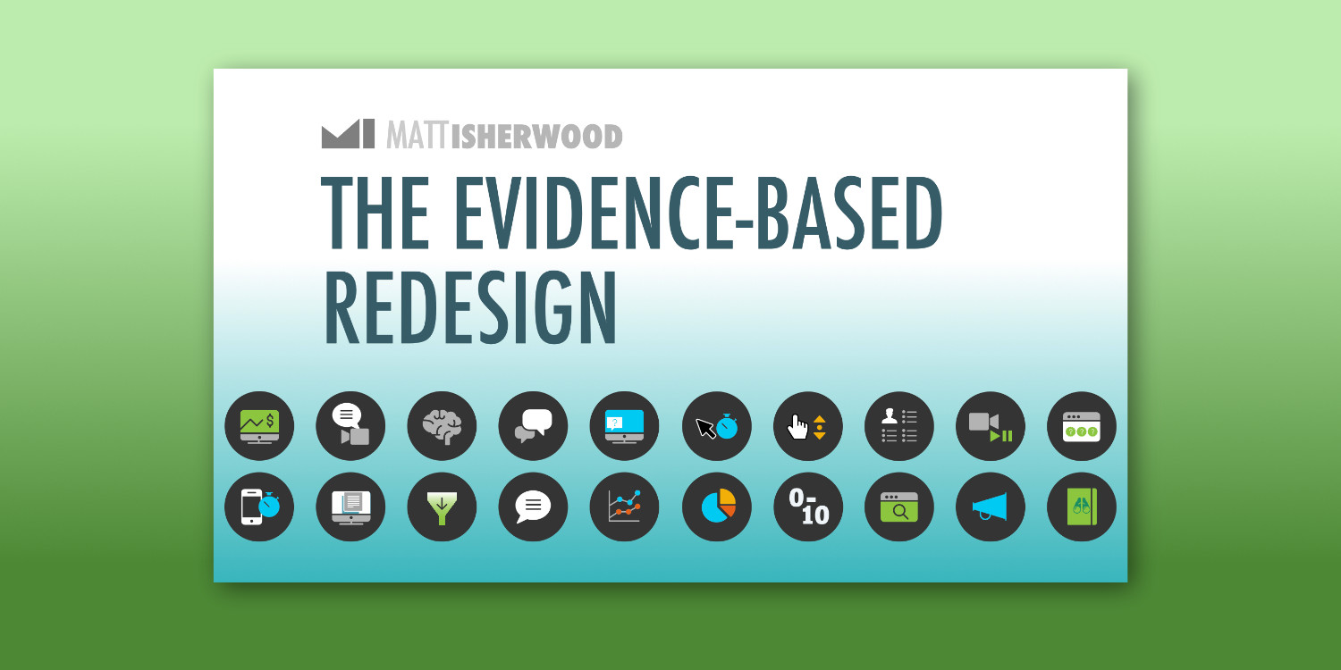 Evidence Based Redesign course title