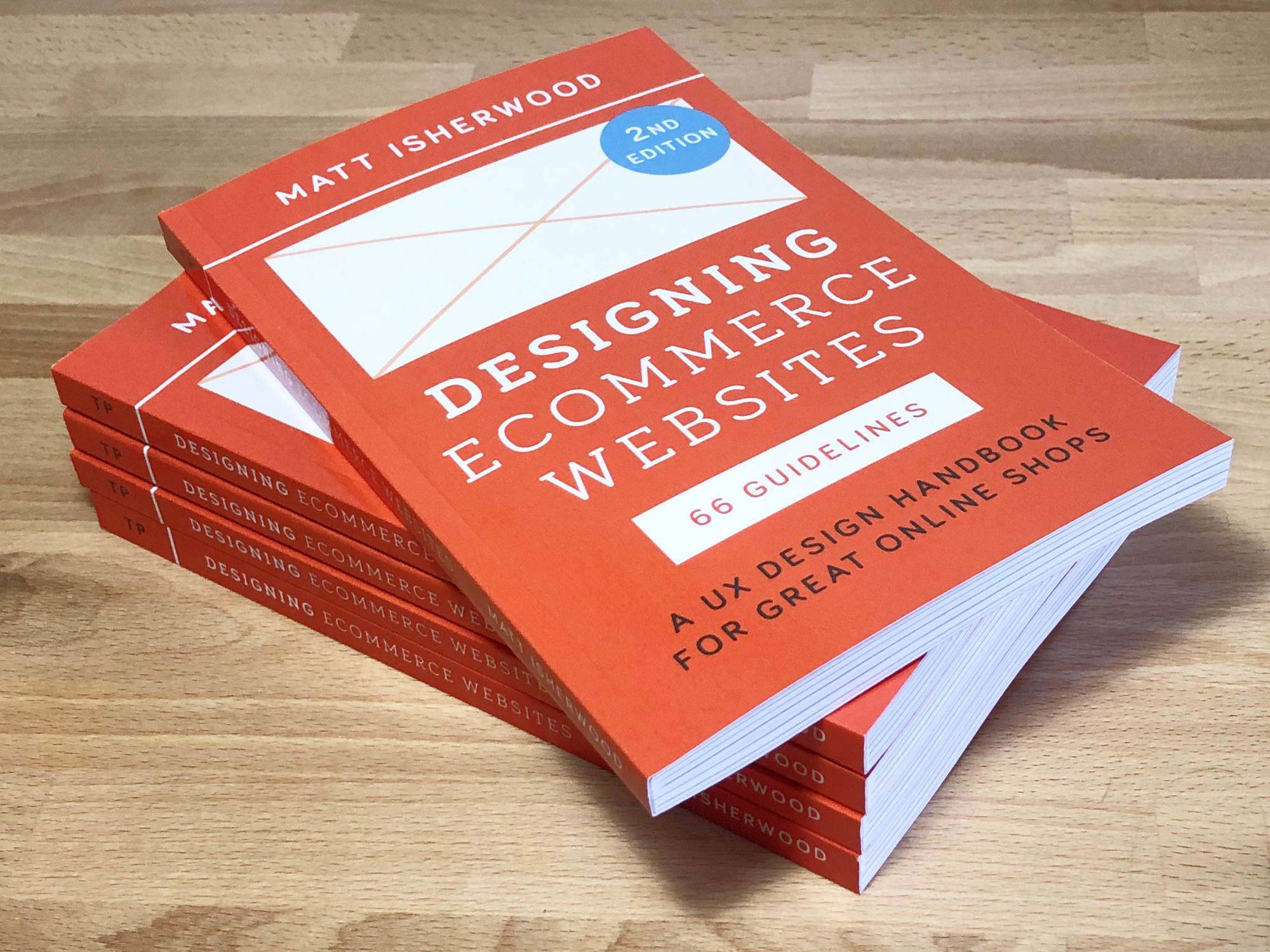 Five copies of the Designing Ecommerce Websites book