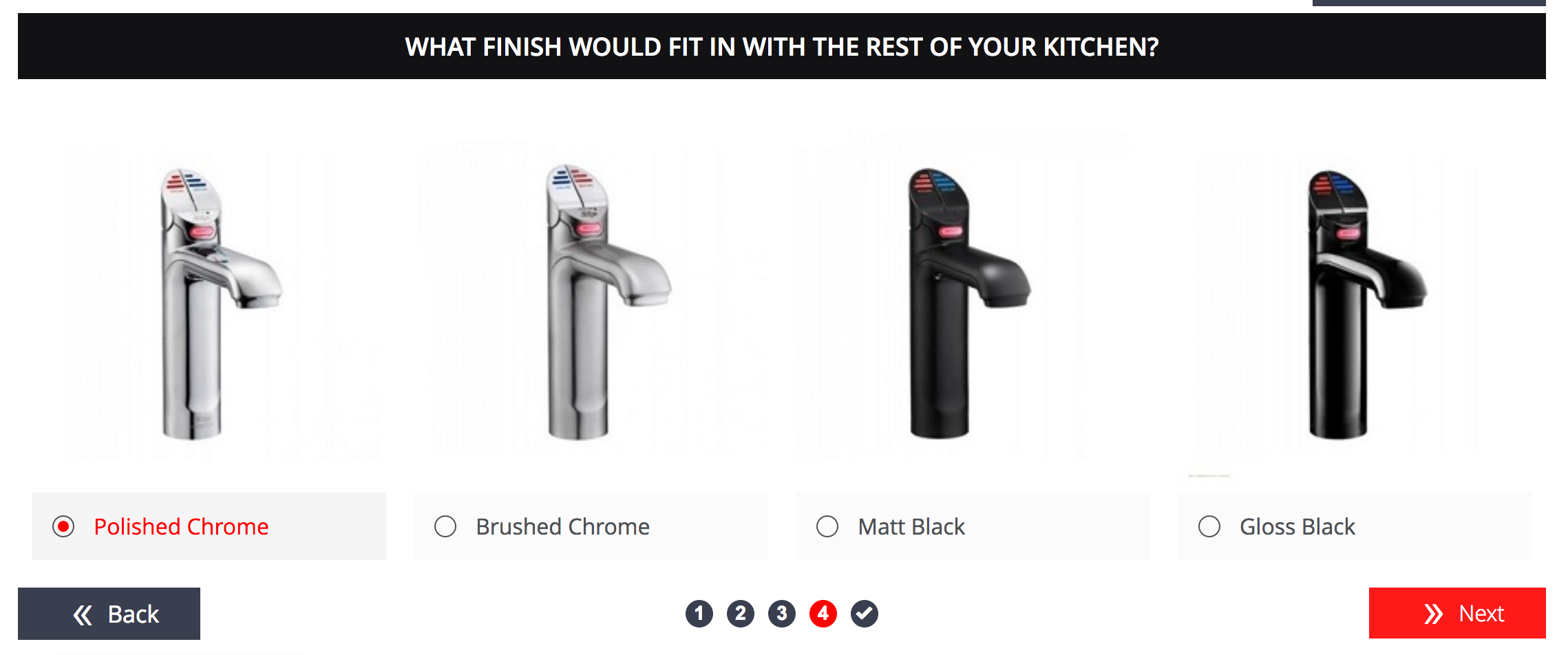 Using images on a product finder
