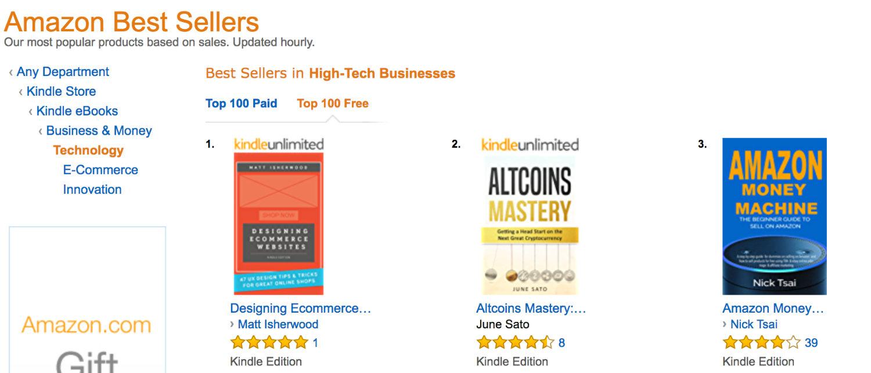 Amazon book chart