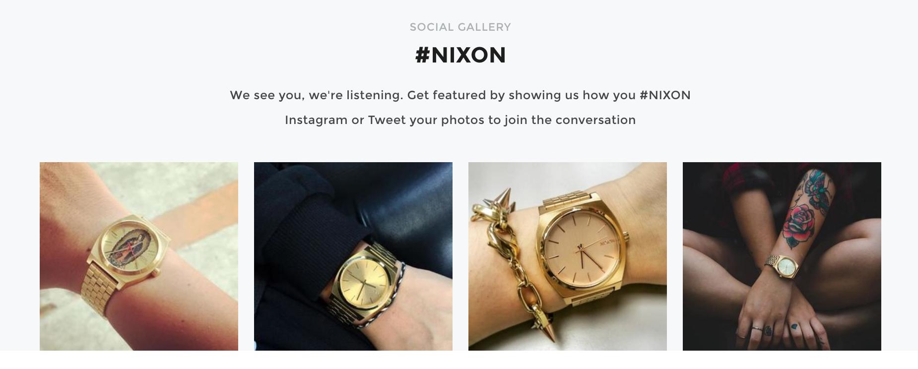 Nixon watches user photos