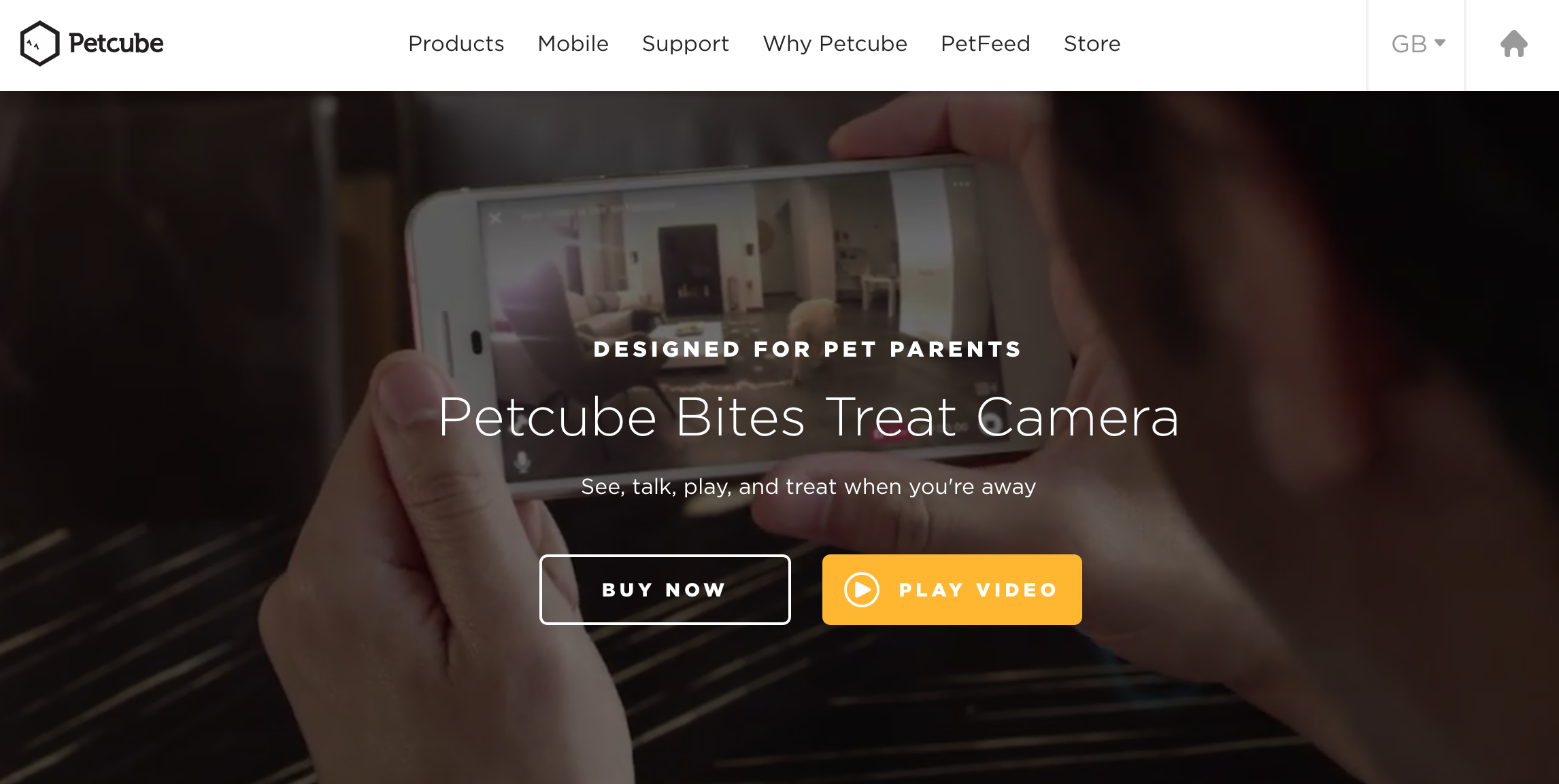Petcube homepage banner