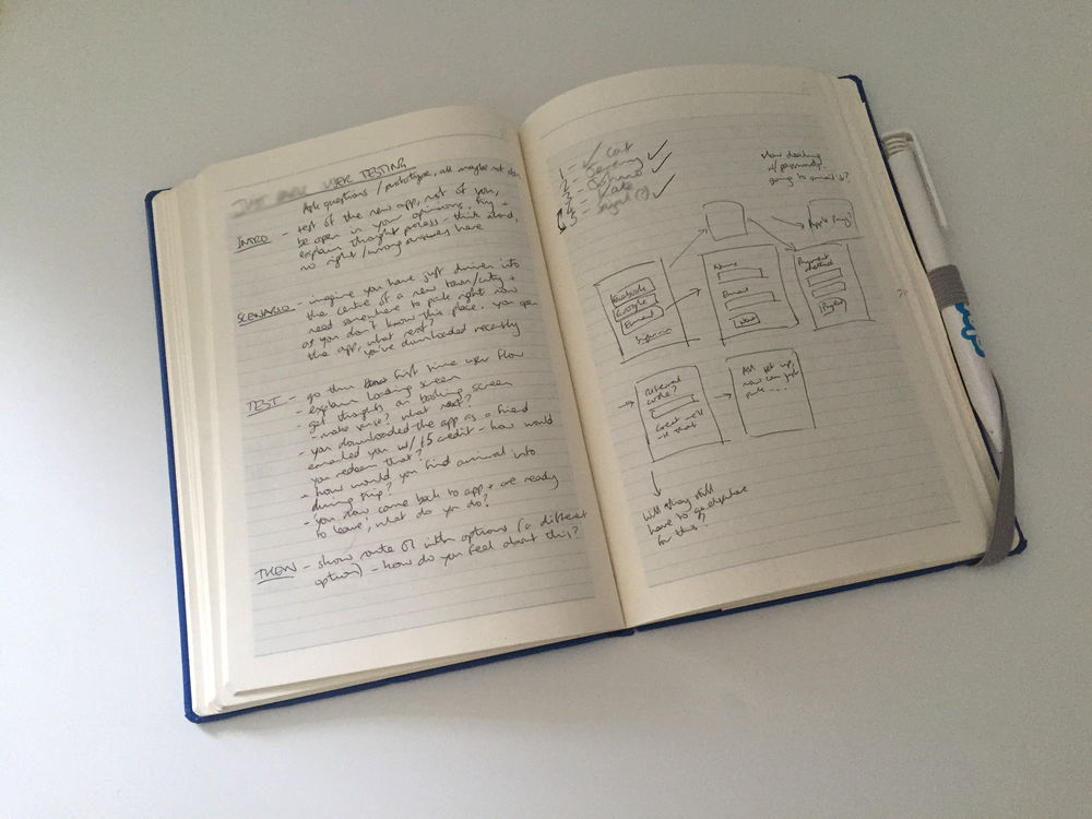 User testing prep notes