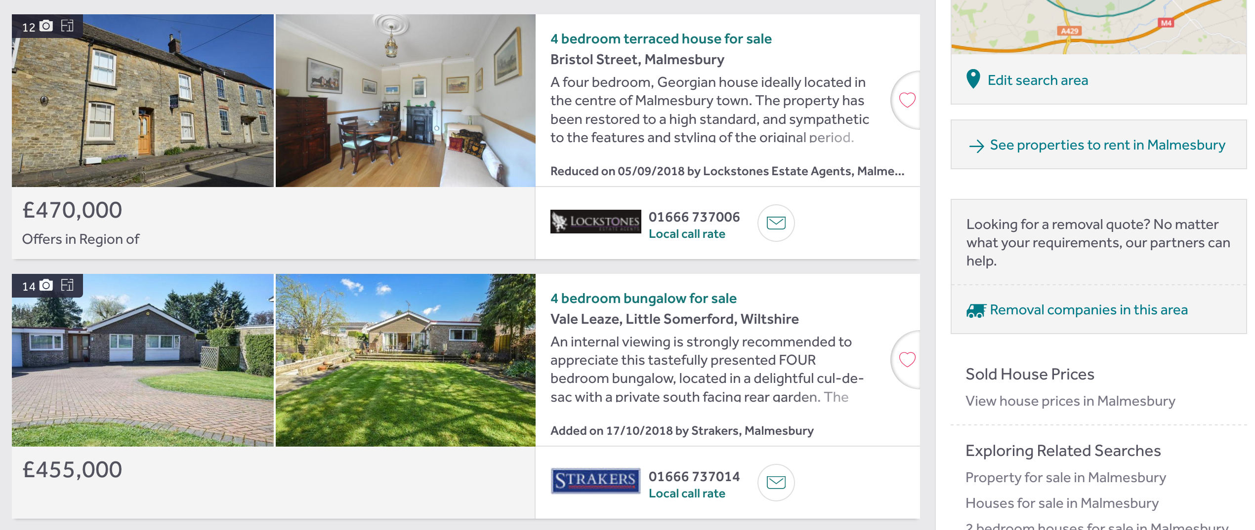 Rightmove listings two images
